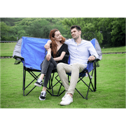 Ozark Trail Two Person Conversation Steel Outdoor Camping Quad Chair, Love Seat