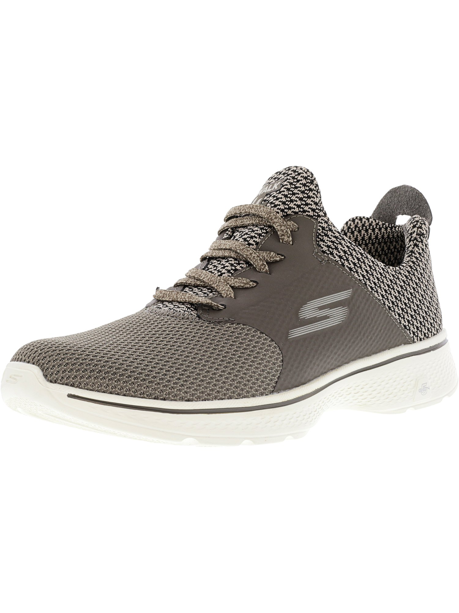 Skechers Men's Go Walk 4 - Instinct Taupe Ankle-High Fashion Sneaker 10M