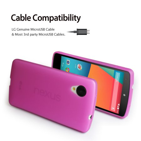 LivEditor Gel Silicone Case Cover For Google LG Nexus 5+Free Anti-Glare Screen Protector - image 3 of 7
