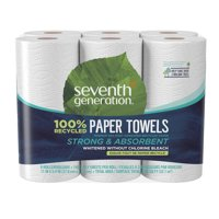 Seventh Generation 100% Recycled Paper White 2-ply Paper Towels 6 Count