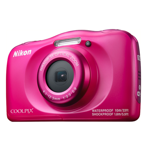 Nikon COOLPIX W100 Digital Camera (Pink)