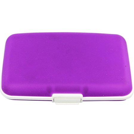Purple Silicone Hard Shelled Wallet  Silicone Card Holder Case ()