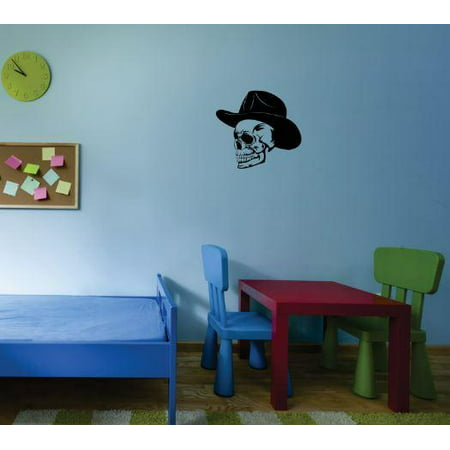 Do it yourself wall decal sticker western skull bedroom for Do it yourself wall mural