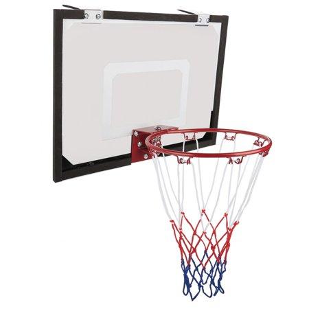 Tbest Indoor Mini Basketball System Backboard Hoop Kit Door Wall Mounted Kids Toy Set,Basketball Backboard, Basketball Hoop