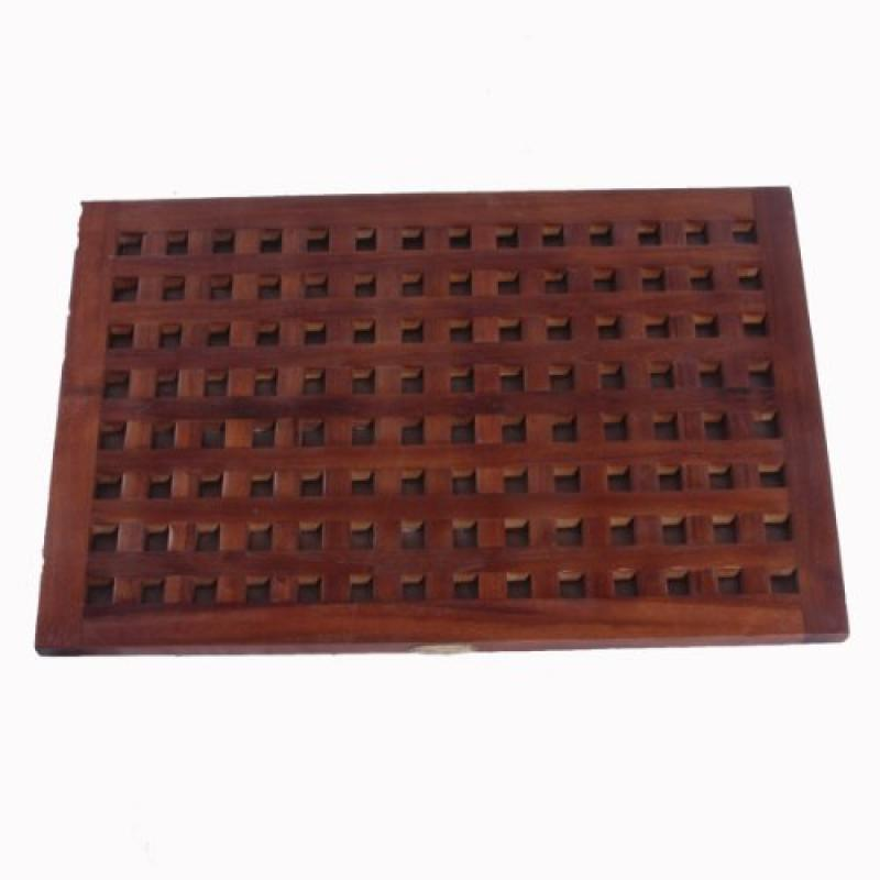 "31"" X 18"" Large Espalier Lattice Teak Bath & Shower Floor..."