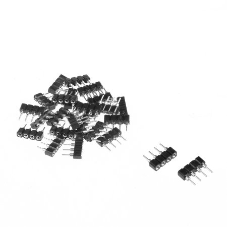 25pcs 4 Pin Male to Female Plug Header Adapter Fit RGB