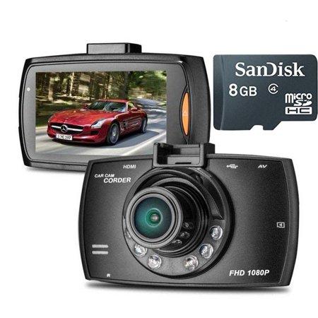 "1080P 2.7"" TFT LCD CarCamera Full HDDashCamCrash DVR Digital Video Recorder Night VisionCamcorder Car Equipment + 8GB Micro SD Card"