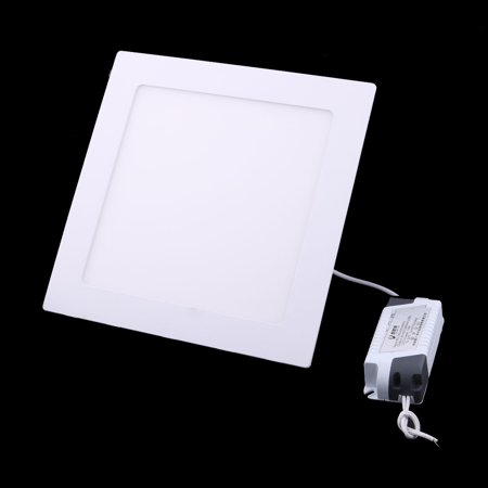 White 15W Square Home Dimmable LED Recessed Ceiling Panel Down Light AC85-265V - image 3 of 5