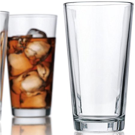Attractive Highball Glasses Clear Heavy Base Tall Bar Glass - Set Of 10 Drinking Glasses for Water, Juice, Beer, Wine, and Cocktails 17 Ounces