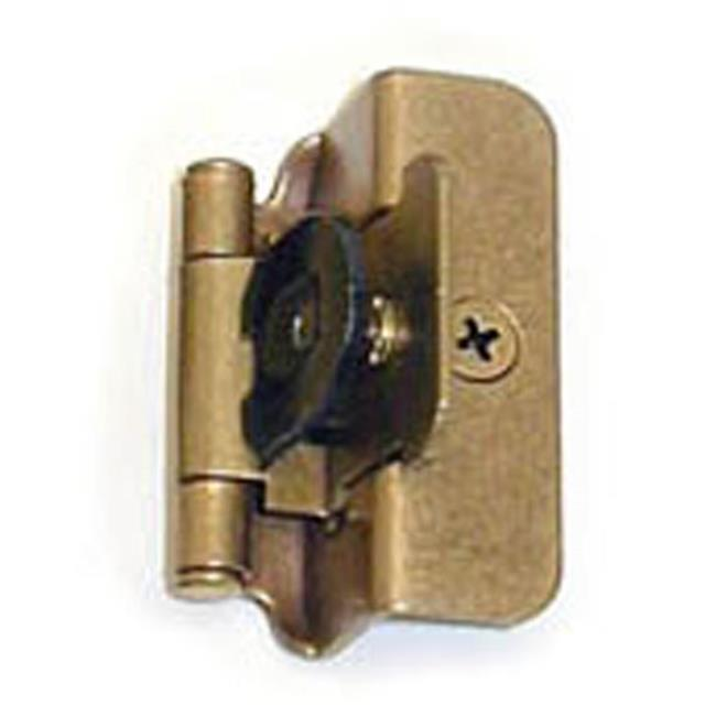 A08704 BB Amerock Double Demountable 0.5 in. Overlay Cabinet Door Hinge, Burnished Brass