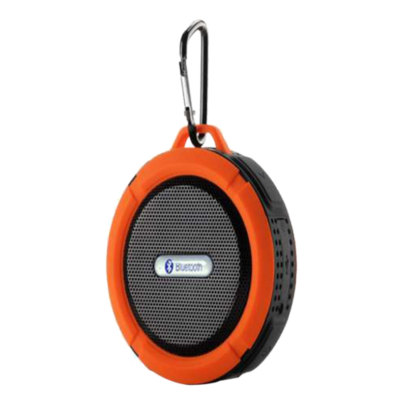 Wireless Portable Bluetooth Speaker Waterproof Sound Box With HookTF Card Slot Handsfree w/ Sucker Cup for Mobile Phone