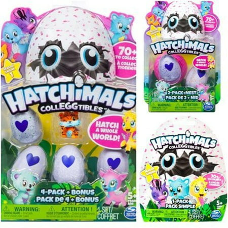 Hatchimals Colleggtibles Season 1 4 Pack   Bonus  2 Pack   Nest  1 Blind Bag Mystery Pack  Random