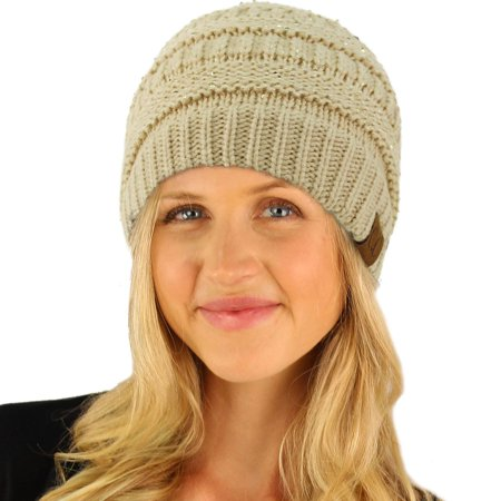 CC Winter Trendy Soft Cable Knit Stretchy Warm Ribbed Beanie Skully Ski Hat Cap
