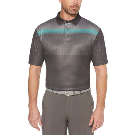 Men's Performance Short Sleeve Printed Golf Polo Shirt, up to (Lake Golf Shirt)