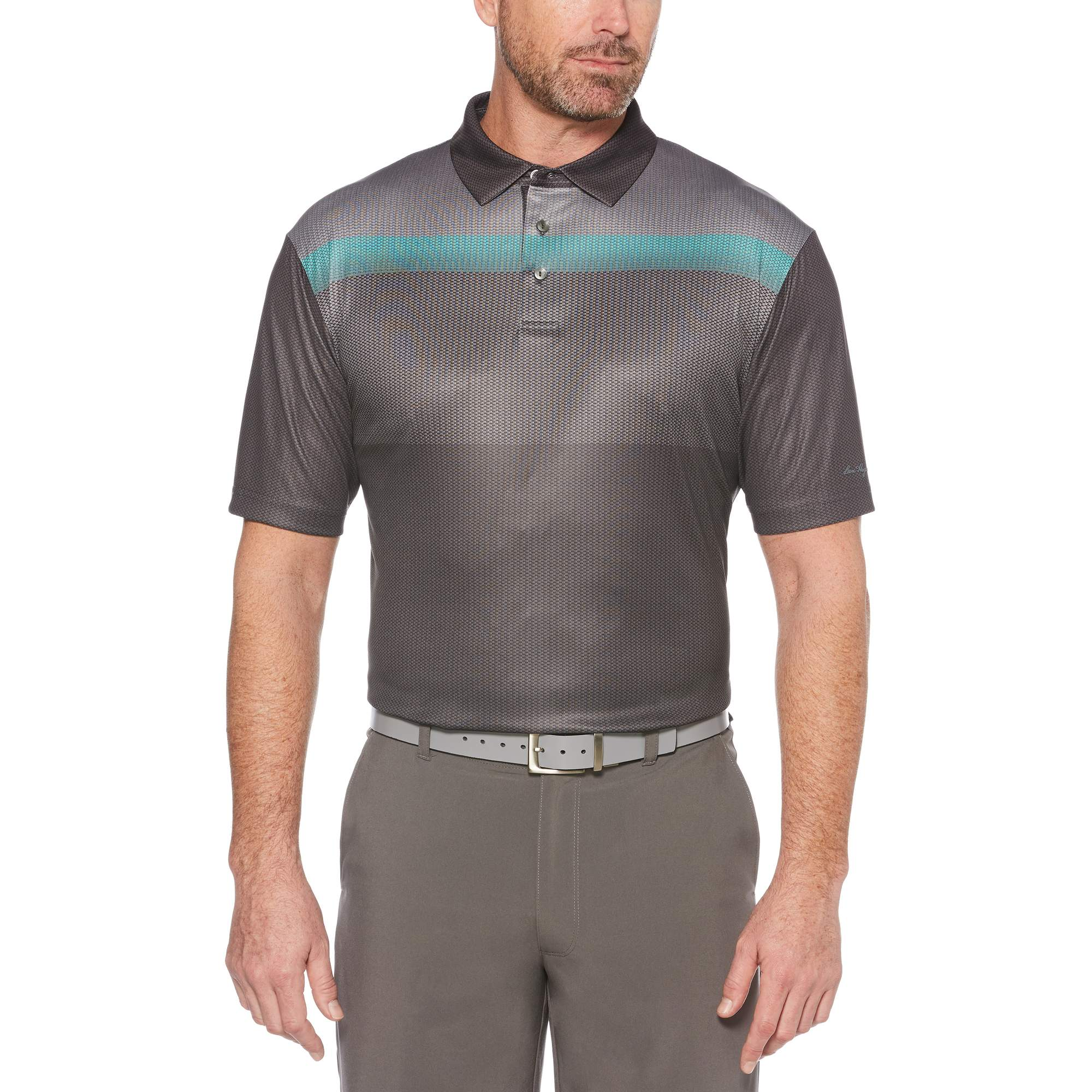 Men's Performance Short Sleeve Printed Polo Shirt, up to 5XL