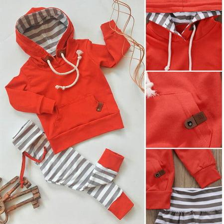 2pcs Newborn Kids Baby Boys Tops Hoodie T-shirt+ Shorts Pants Outfit Clothes Set 0-24M