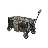 Ozark Trail Camo Print Quad Folding Wagon with Telescoping Handle