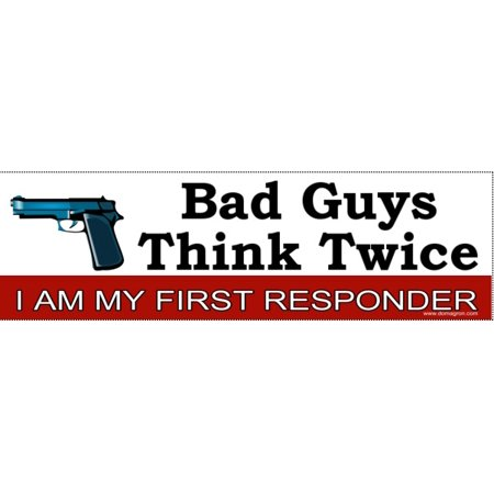 I am my first responder bumper sticker gun rights bumper sticker