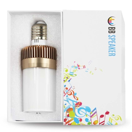 Bluetooth Led Light Bulb With Audio Speaker Gold