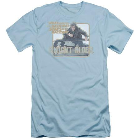 Knight Rider Sci-Fi Action TV Series Hasselhoff Back Seat Adult Slim T-Shirt Tee