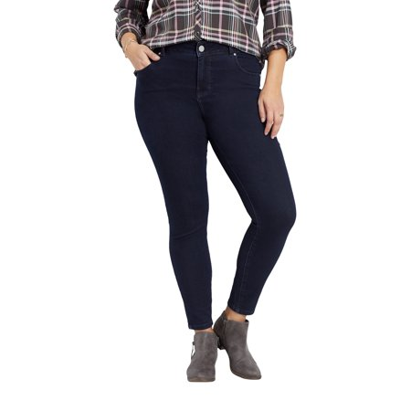 Rinse Wash Jeans (Maurices High Rise Skinny Jean - Plus Size Everflex Women's Rinse Wash Stretch )