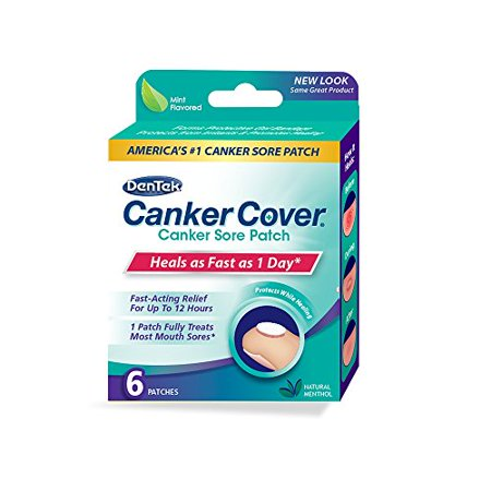 2 Pack - DenTek Canker Cover Medicated Mouth Sore Patch, 6 Count