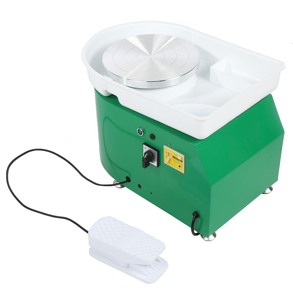 Pottery Forming Machine Pottery Wheel 350W 24CM Brushless Electric Pottery Wheel with Foot Pedal and Detachable Basin DIY Clay Tool for Student and Amateur Ceramic Work Ceramic Clay