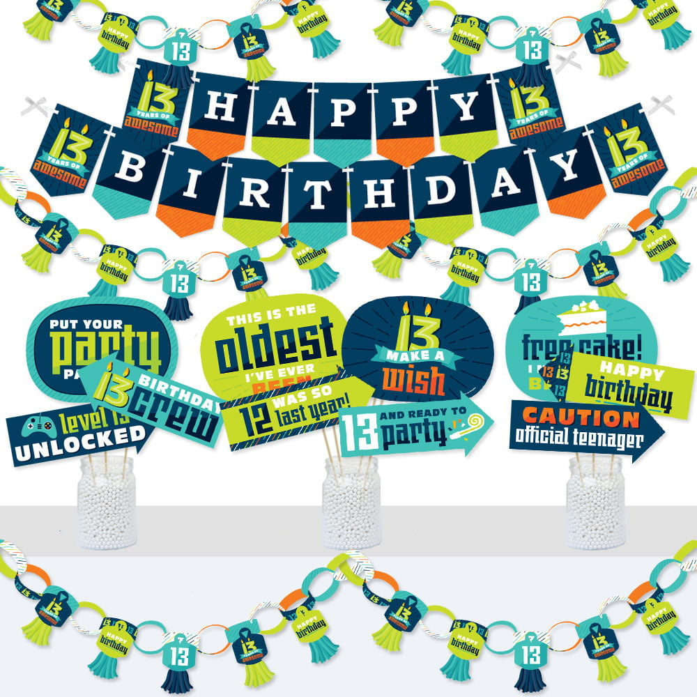 Magical Birthday Party Supplies Kit Magic Show Banner and Photo Booth Decorations Ta-Da Doterrific Bundle