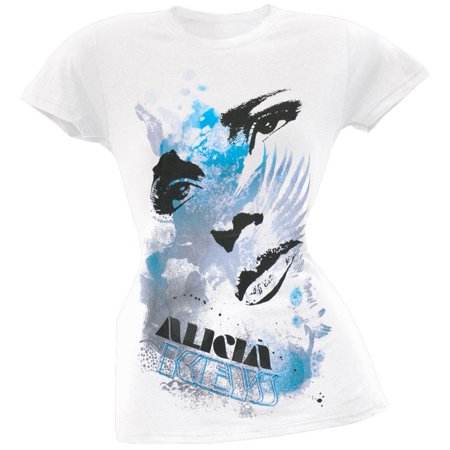 Alicia Keys - Eyes & Lips Juniors T-Shirt](Alicia Keys Halloween)