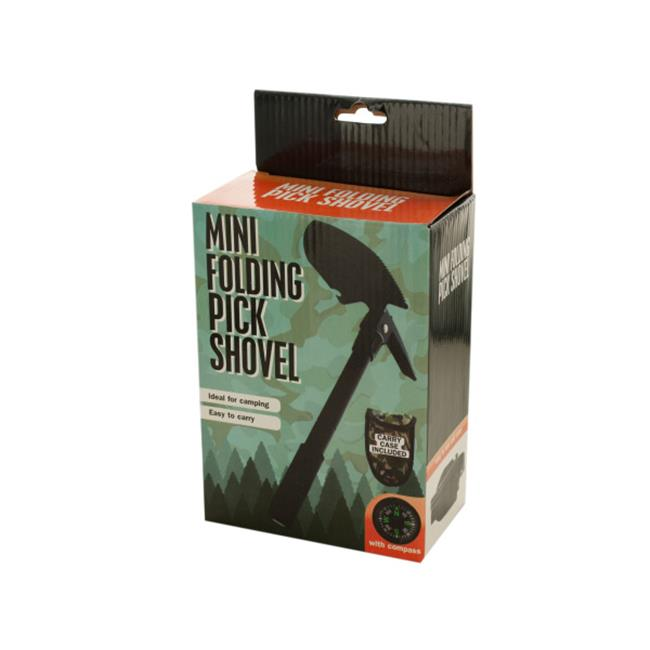Click here to buy Bulk Buys OF351-4 Mini Folding Pick Shovel With Compass by Bulk Buys.