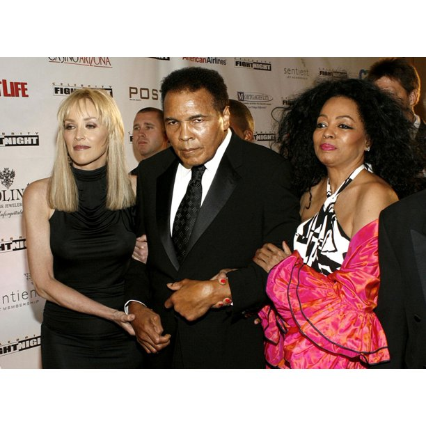 Sharon Stone Muhammad Ali Diana Ross At Arrivals For Muhammad Alis Celebrity Fight Night Xiii Arrivals