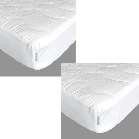 Waterproof Laminated Cotton (effe bebe Waterproof Crib Mattress Cover, with a 230 Count cotton top, quilted polyfill padding and a skirt that contains a non-woven waterproof laminated film backing - 2)