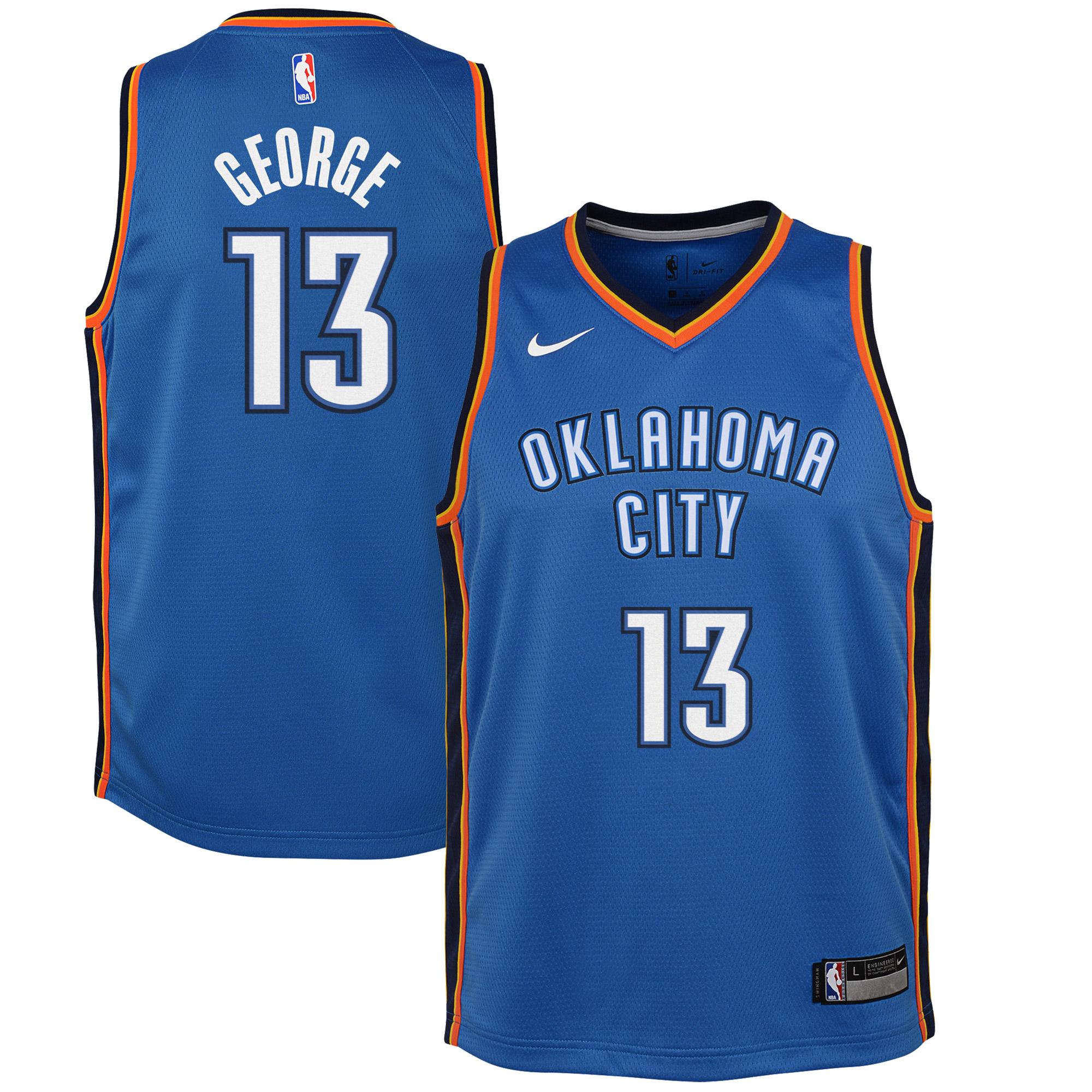 best website 9aba4 a7e4c Paul George Oklahoma City Thunder Nike Youth Swingman Jersey Blue - Icon  Edition