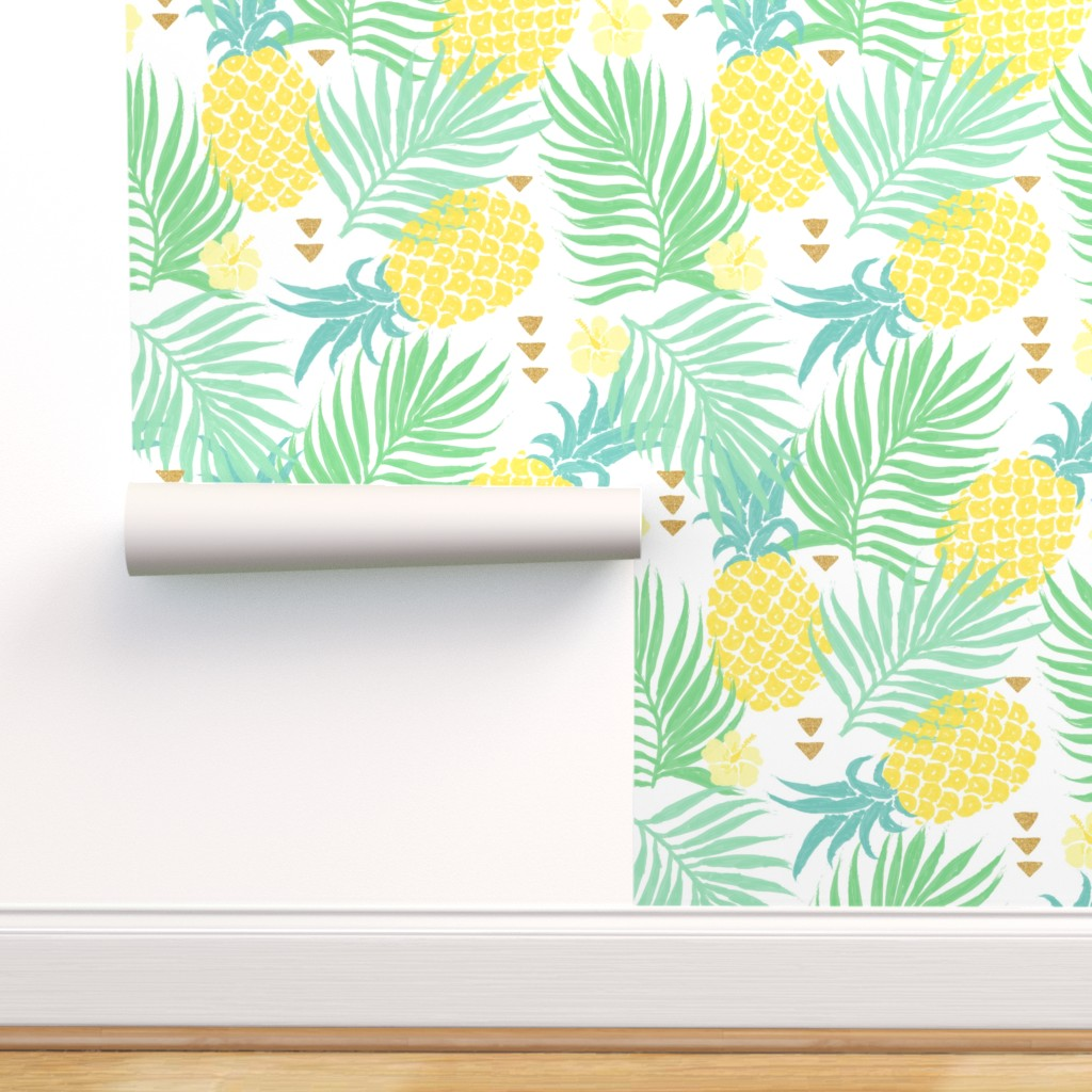 Peel-and-Stick Removable Wallpaper Pineapple Tropical ...