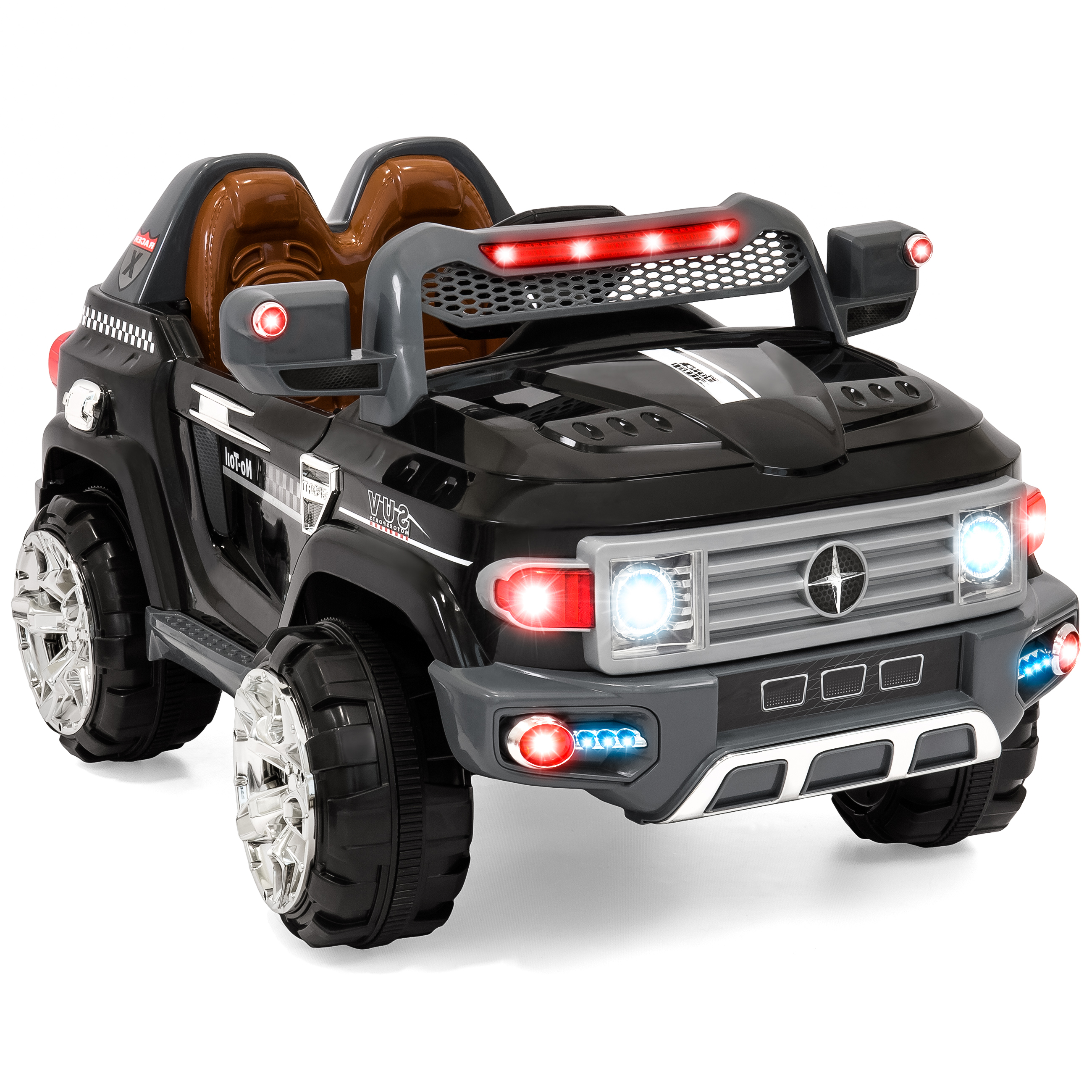 Best Choice Products 12V MP3 Kids Ride on Truck Car RC Remote Control, LED Lights, AUX and Music