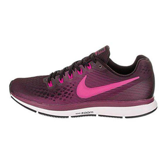 858eee65170f NIKE - Nike Women s Air Zoom Pegasus 34 Running Shoe Port Wine Deadly Pink- Tea Berry-Black 10.5 - Walmart.com