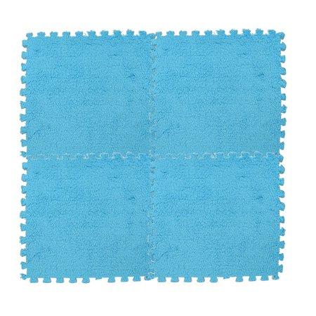 Tuscom 25X25cm Kids Carpet Foam Puzzle Mat EVA Shaggy Velvet Baby Eco Floor 7 colors ()