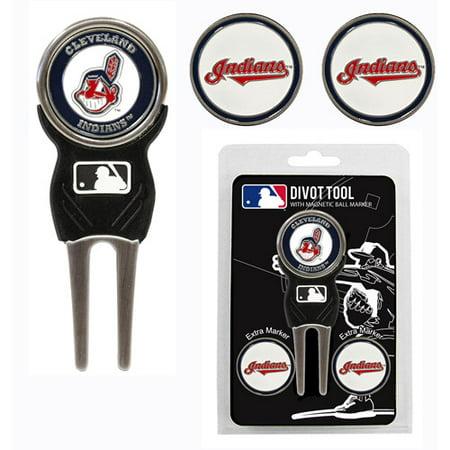Team Golf MLB Cleveland Indians Divot Tool Pack With 3 Golf Ball