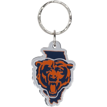 Chicago Bears State Shape Keychain - No Size - Chicago Keychain