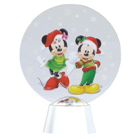 Disney Mickey and Minnie Holidazzler Light Up Figurine, Tabletop Light Up Decoration featuring Disney Mickey Mouse and Minnie Mouse By Department 56](Mickey And Minnie Mouse Decorations)