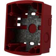 System Sensor Honeywell SBBR Red,Surf.Wall.Mount Back Box
