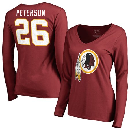 separation shoes 95e6e 36283 Adrian Peterson Washington Redskins NFL Pro Line by Fanatics Branded  Women's Player Icon Name & Number Long Sleeve V-Neck T-Shirt - Burgundy -  ...
