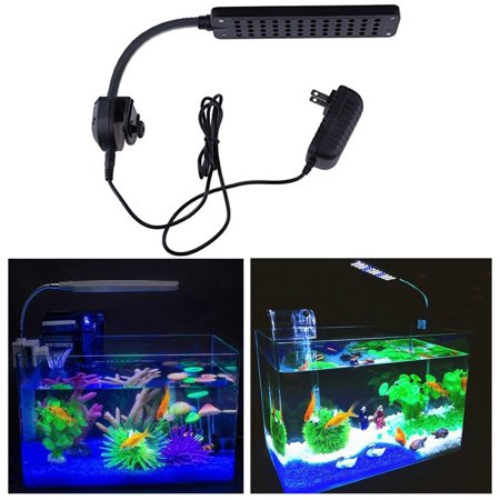 48 LED 2 Mode Fish Tank Aquarium Plant Grow Clip White Blue Light - Clothing With Led Lights