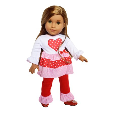 My Brittany's Hearts N' Love Outfit Fits American Girl Dolls and My Life as Dolls- 18 Inch Doll