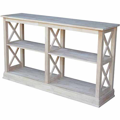 International Concepts Ot-70Sl Hampton Sofa Server Table with Shelves, Ready To Finish