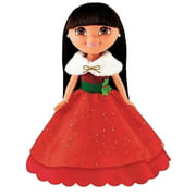 Fisher Price Holiday Sparkle Dora Doll with Pretty Red Dress & Combable Hair