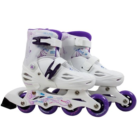 AIRWALK Youth Inline Skates TRITON WHITE PURPLE SML 13-3 Adjustable  Rollerblades - Walmart.com 093220fd61