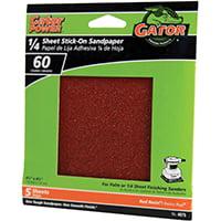 Gator 4075 Sanding Sheet, 60-Grit, Aluminum Oxide 10 Pack