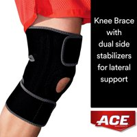 ACE Brand Knee Brace W/ Side Stabilizers, Easy-to-Use, Breathable