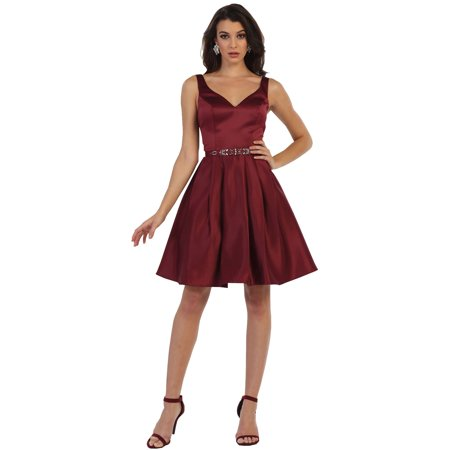 SEMI FORMAL SIMPLE SHORT HOMECOMING DRESS & PLUS SIZE ()